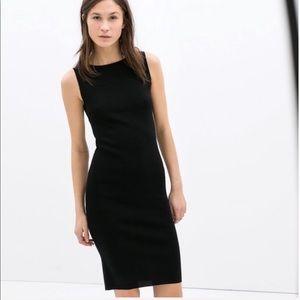 Zara black sleeveless dress